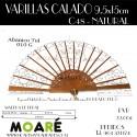 Varillas abanico PERAL CALADO NATURAL 24.5cm