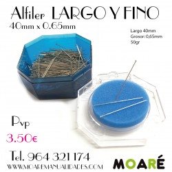 Alfiler Acero 40mm 50gr