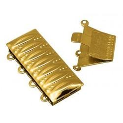 Cierre 4 vias caja 25mm dorado