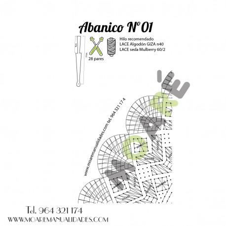 Varillas abanico SIPO CALADO NATURAL 14.5X6.5CM