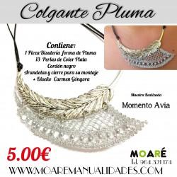 Kit Colgante Pluma + patrón