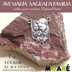 Ave maria medalla Rosario SAGRADA FAMILIA