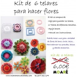 Set 6 telares Flores Flower Loom