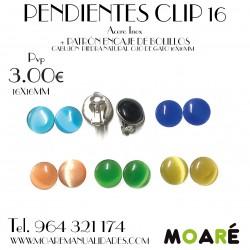 PENDIENTES CLIP 16 + PATRÓN