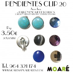 PENDIENTES CLIP 20 + PATRÓN