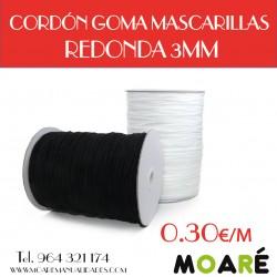 CORDÓN GOMA MASCARILLAS REDONDA