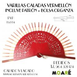 VARILLAS CALADAS VERMELLÓN + patrón