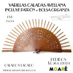 VARILLAS CALADAS AVELLANA + patrón