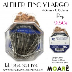 Alfiler Acero 43X0.60mm