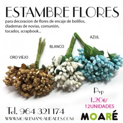 ESTAMBRES FLORES ARTIFICIAL