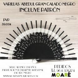 Varillas GRAN CALADO NEGRO 14.5X6.5CM