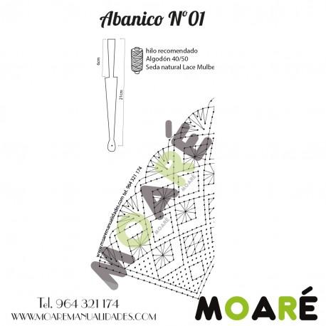 Varillas abanico ABEDUL BLANCO CALADO 14.5X6.5CM