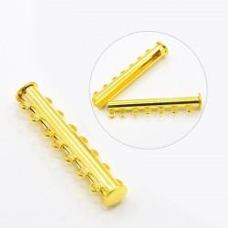 Cierre 7 vias bayoneta  40 mm dorado magnético