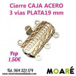 Cierre Caja ACERO 3 vias 19mm labrado