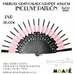 Varillas GRAN CALADO GRANDE 16X10CM NEGRO