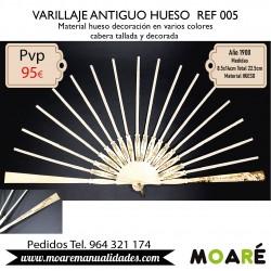 VARILLAJE ANTIGUO HUESO REF005