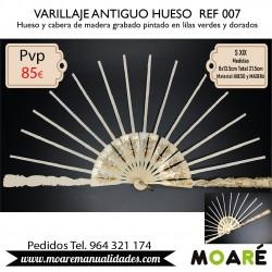 VARILLAJE ANTIGUO HUESO REF007