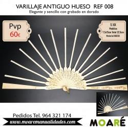 VARILLAJE ANTIGUO HUESO REF008