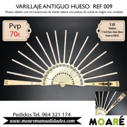 VARILLAJE ANTIGUO HUESO REF009