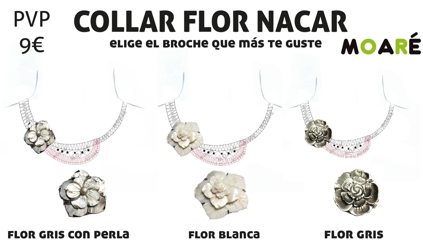 collar nacar flor