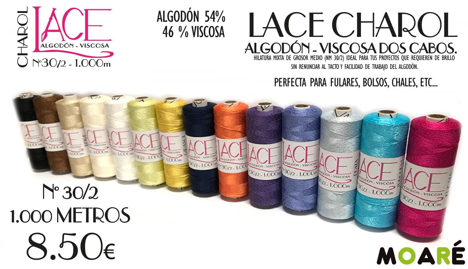 ALGODON-VISCOSA LACE CHAROL
