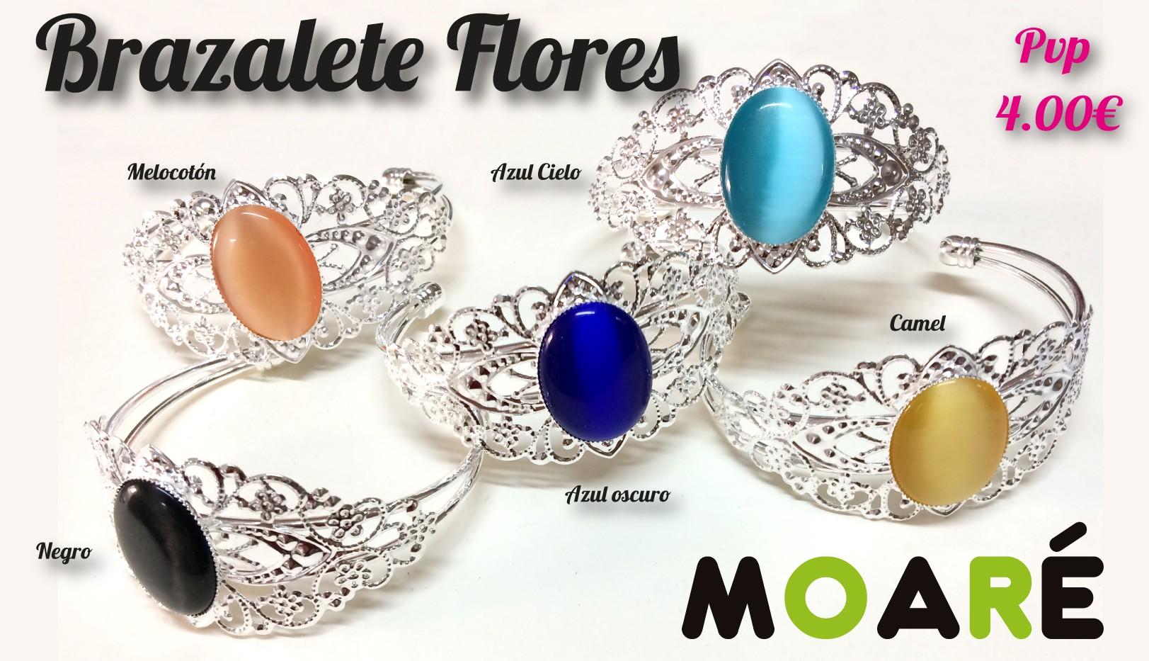 Brazalete Flores encaje de bolillos
